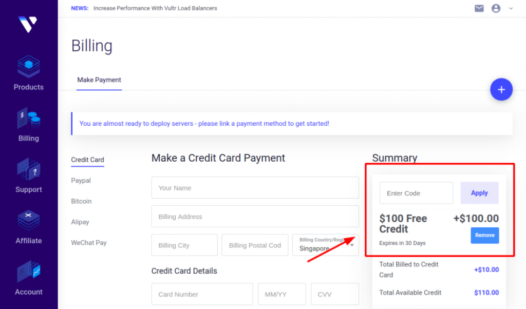 Vultr-Coupon-100-USD-Credit-Promotions